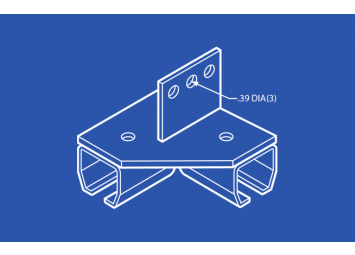 Industrial Track Bracket - Right Angle Vertical