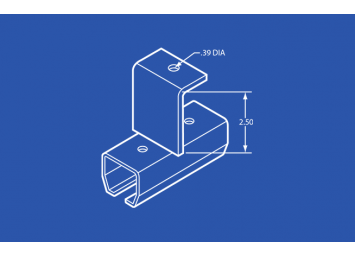 Industrial Track Splice - Threaded Rod