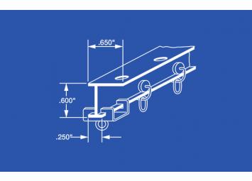 "4148 Aluminum L Beam Curtain Track Kit - 48"""