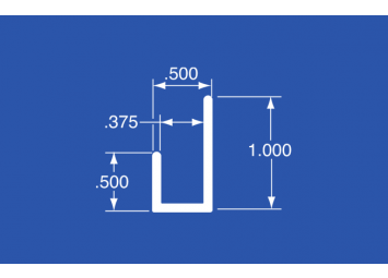 """LT-37A - Aluminum Panel Retainer - 144"""""""