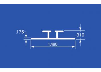 """ODT-8V - Vinyl Panel Retainer & Track - 144"""""""