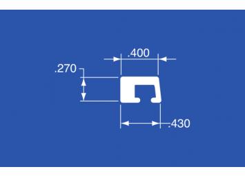 "CT-40A - Aluminum Curtain Track - 144"""