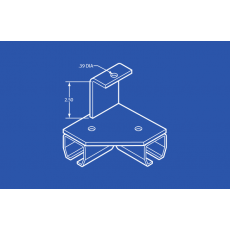 Industrial Track Bracket - Right Angle - Threaded Rod