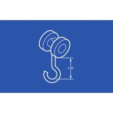 Industrial Trolley - Nylon Wheels - 1 In Hook