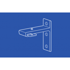 6261 Long Wall Bracket for Heavy Duty I Beam Track - 2.375 in Extension