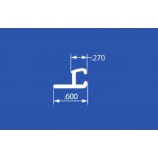 """LTC-70A - Aluminum Curtain Track - 144"""""""