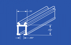 84003 Ball Bearing Carrier Curtain Track - Ceiling or Wall
