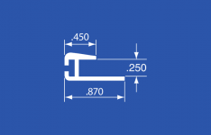 "LTP-49A - Aluminum Curtain Track - 144"""