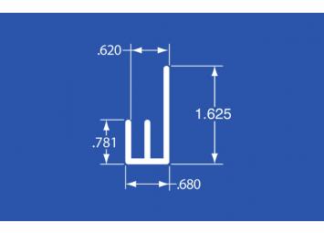 """FJ-68A - Aluminum Panel Retainer - 120"""""""