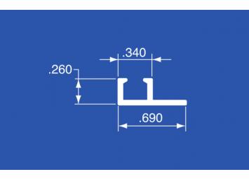 "CCT-100A - Aluminum Curtain Track - 192"""