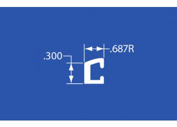 "CT-30A - Aluminum Curtain Track - 144"""