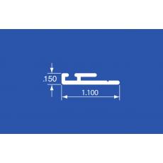 "LTP-52A - Aluminum Curtain Track - 144"""