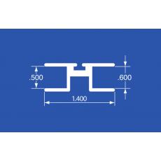 "ODT-140A - Aluminum Panel Retainer & Curtain Track - 144"""