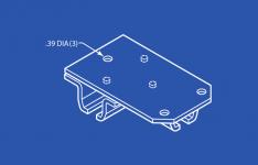 Industrial Track Bracket 3 Way Ceiling