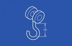 Industrial Trolley Nylon Wheel - 1 in hook