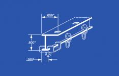 "4160 Aluminum L Beam Curtain Track Kit - 60"""