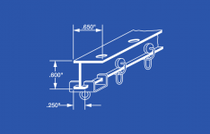 "4196 Aluminum L Beam Curtain Track Kit - 96"""