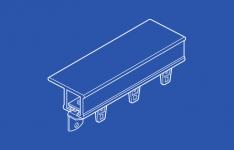 84004 Ball Bearing Curtain Track - Kit