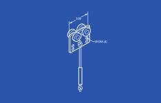 """Industrial B3427-10 Pull Rope Trolley - Steel Wheels - 10'0"""" Rope"""