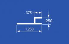 """FJ-37A - Aluminum Panel Retainer - 144"""""""