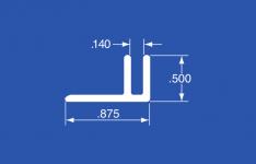 "GS-100A - Aluminum Panel Retainer - Mill Finish - 144"""