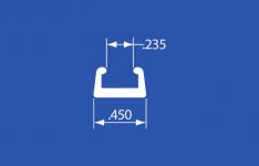 """HRC-5V - Vinyl Headliner Retainer Caps - Gray - 204"""""""