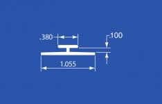 """HT-12A - Aluminum Panel Retainer - 144"""""""