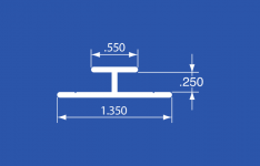 "HT-2A - Aluminum Panel Retainer - Anodized - 144"""