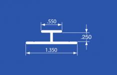 """HT-2ANA - Aluminum Track - Not Anodized - Mill Finish - 144"""""""