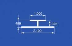 """HT-37A - Aluminum Panel Retainer 144"""""""
