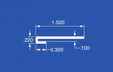"""LT-100A - Aluminum Panel Retainer - 144"""""""