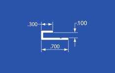 """LT-13A - Aluminum Panel Retainer - 144"""""""