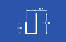 """LT-50A - Aluminum Panel Retainer - 144"""""""
