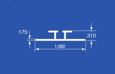 "ODT-8A - Aluminum Panel Retainer & Curtain Track - 144"""